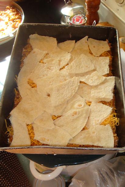 Enchilada Casserole Recipe - Still Layering