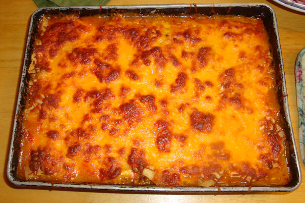 Enchilada Casserole Recipe - Done