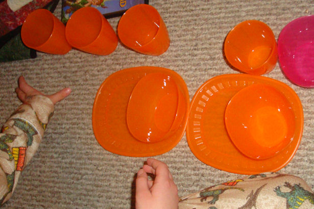 Ikea Dishes - Orange Dishes