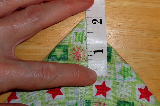 Make Cloth Gift Bags - Measure Corner