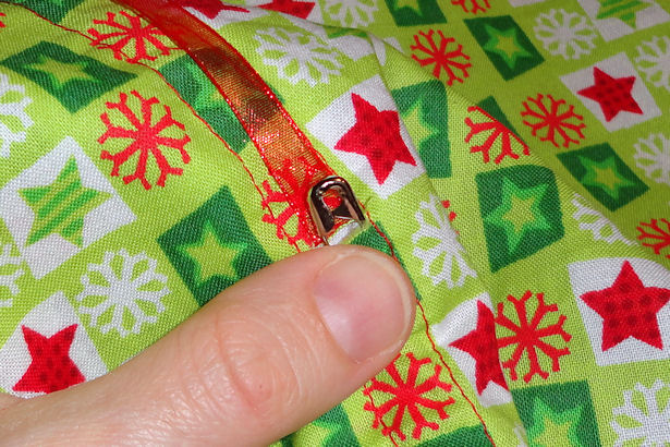 Make Reusable Gift Bags - Finish Ribbon