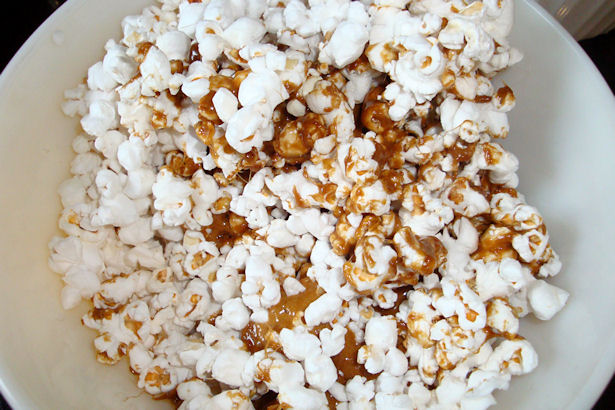 Microwave Caramel Corn Recipe - Stir and Cook