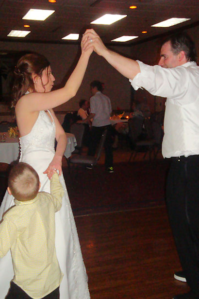 Dee and Jay Dancing with Little Guy