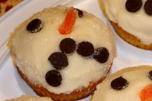 Sad Snowman Cupcake