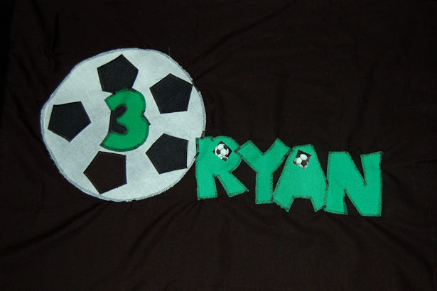 Soccer Appliqué Pillowcase