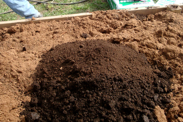 Square Foot Gardening Preparation - Compost