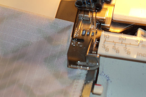 Starting Finishing Serged Seam - Realign the Seam