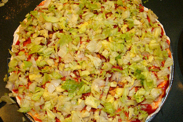 Taco Dip Recipe - Add Lettuce