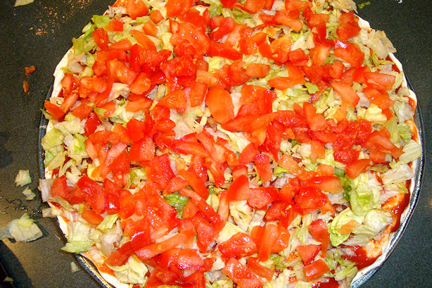Taco Dip Recipe - Add Tomato