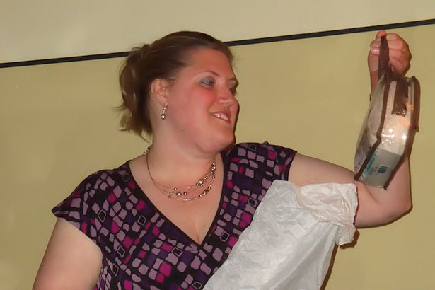 VAEYC Dinner 2011 - Michelle with Blanket