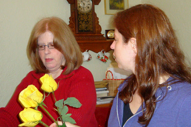 Wedding Flowers - Dee and her Mom
