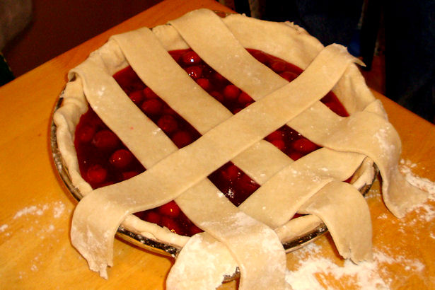 Best Cherry Pie Recipe - Weaving Strips
