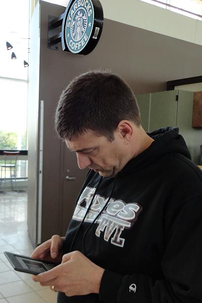 Chicago 2012 - Teacher with Kindle