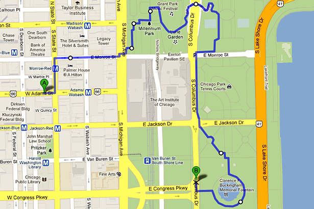 Chicago 2012 Part Seven - Walking Map