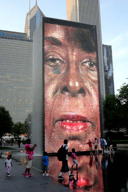 Chicago 2012 Part Seven - Crown Fountain Face