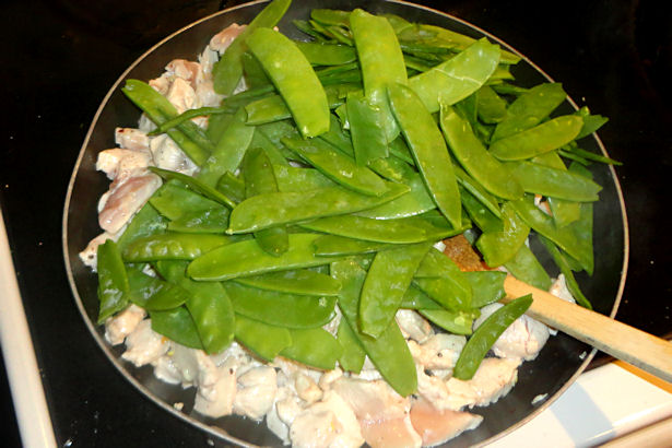 Chicken Lo Mein Recipe - Add Snow Peas