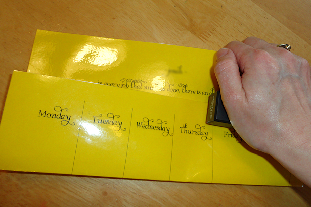 Kids Chore Chart - Stapling