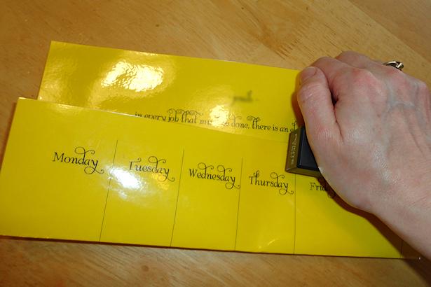Kids Chore Chart - Stapling