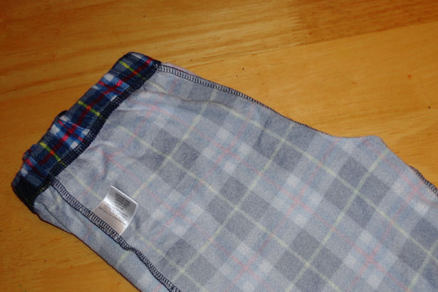 Make Kid's Pajama Pants - Folded
