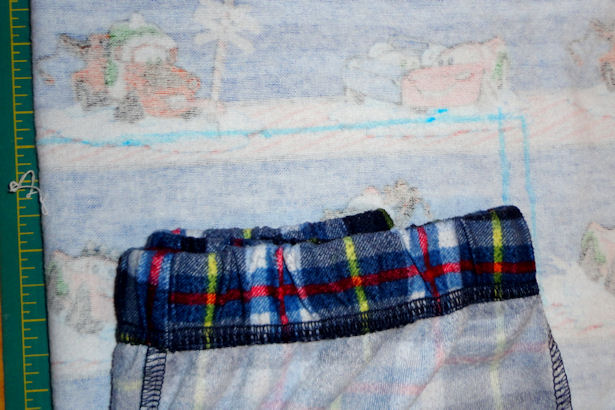 Make Kid's Pajama Pants - Drawing the Waist
