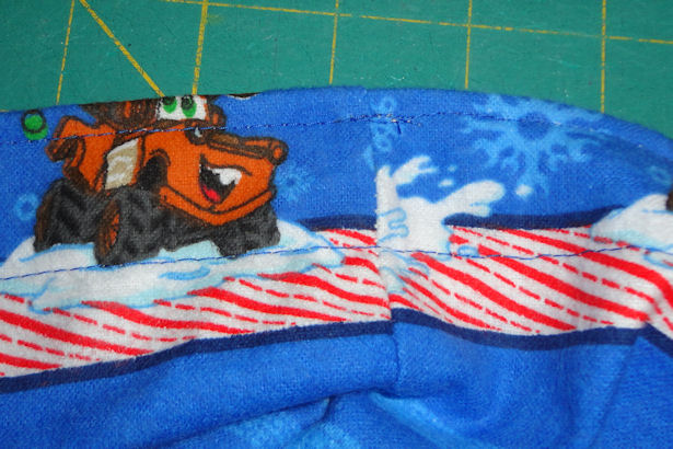 Make Kid's Pajama Pants - Stitch Along Fold