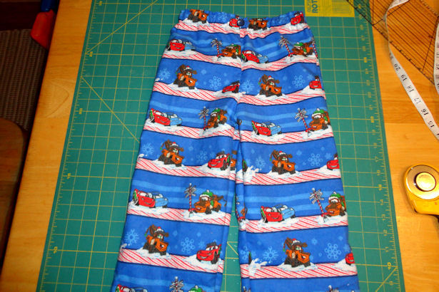 Make Kid's Pajama Pants - Done