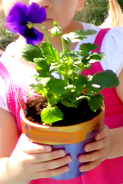 Painted Flower Pots for Mother's Day