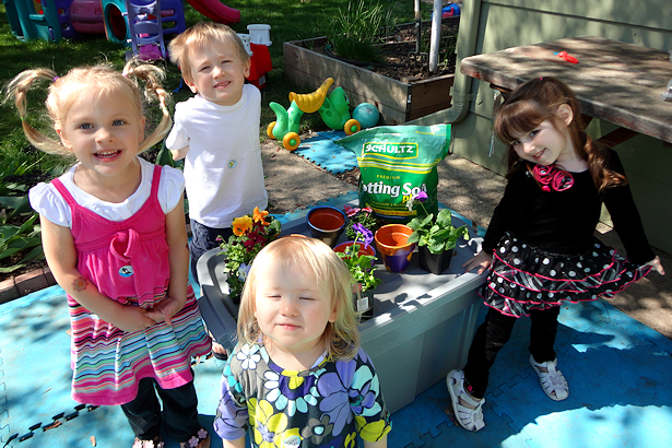 Painted Flower Pots for Mother's Day - Planting Flowers