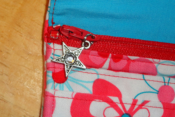 Sewing Box Wallet - Star Zipper Pull