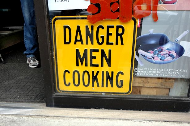 Chicago 2013 Part Two - Danger Men Cooking Sign