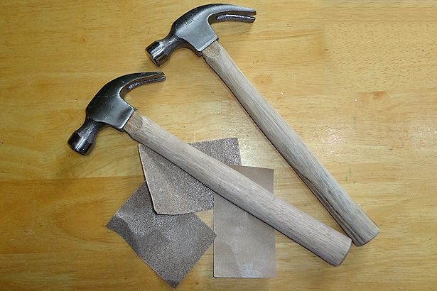 Easy Father's Day Craft - Hammers and Sand Paper