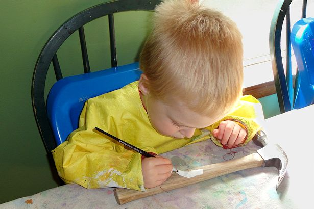 Easy Father's Day Craft - W Painting