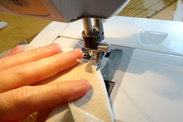 Make Basket Liners - Sewing Side to Bottom, Step 3