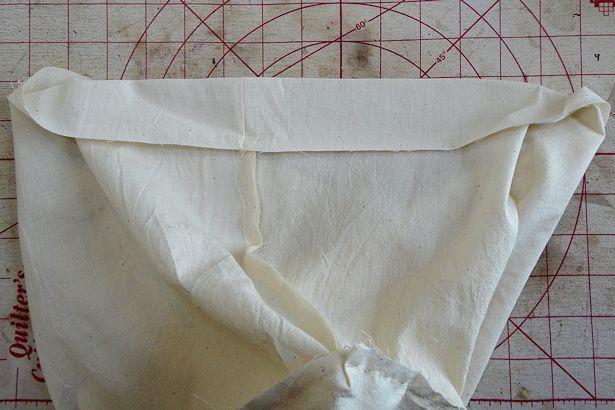 Make Basket Liners - Pressing Hem