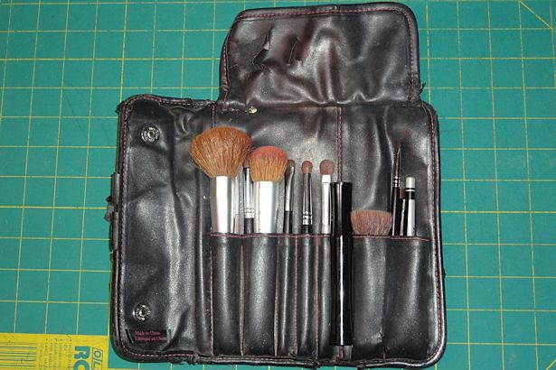 Makeup Brush Roll - Beat Up Makeup Roll Inside