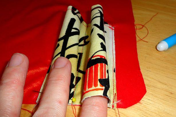 Makeup Brush Roll - Making the Darts 2
