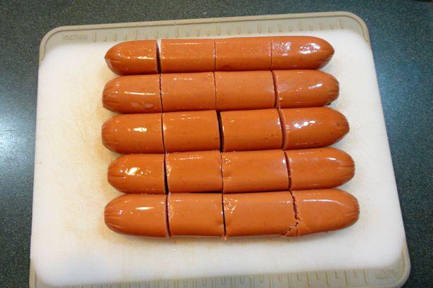 Mini Corndog Muffins - Hot Dogs