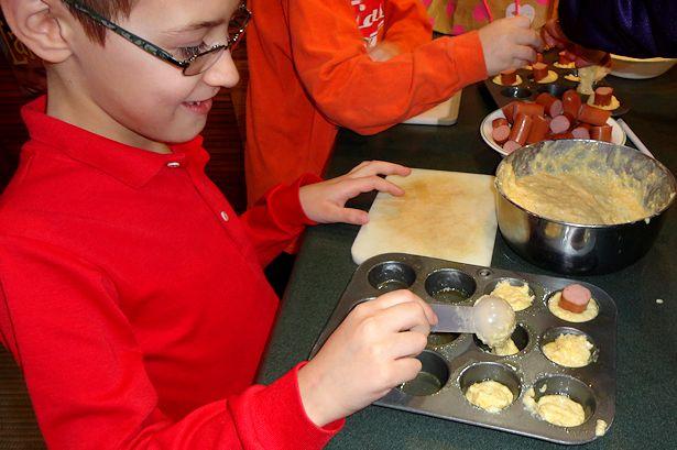 Mini Corndog Muffins - Assemble the Muffins