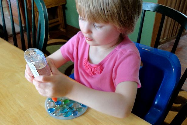Mother's Day Craft Sun Catcher - Cover with Glue