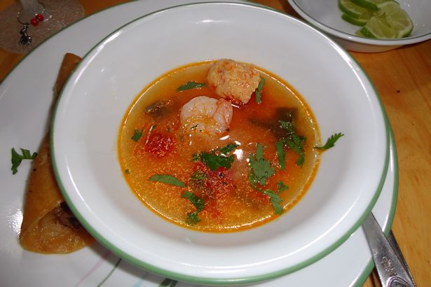 Shrimp Ball Soup in Bowl