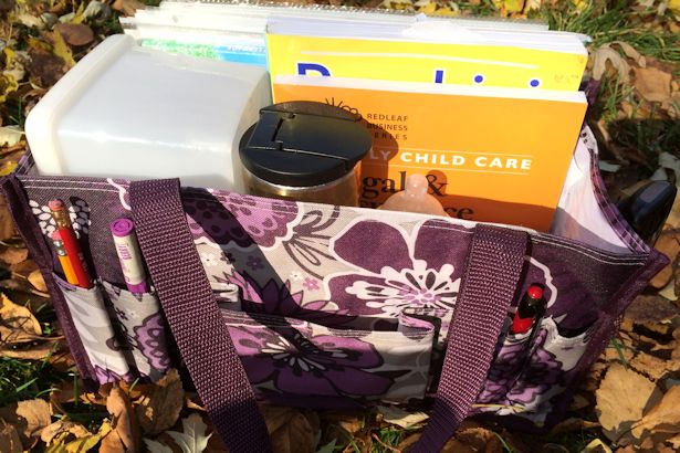 Thirty-One Tote - Plum Awesome Blossoms