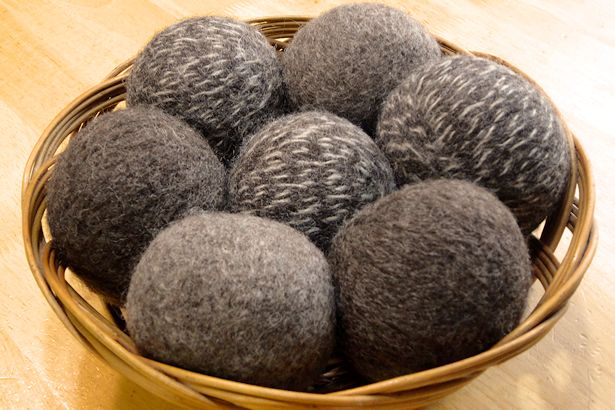 Wool Dryer Balls in Basket