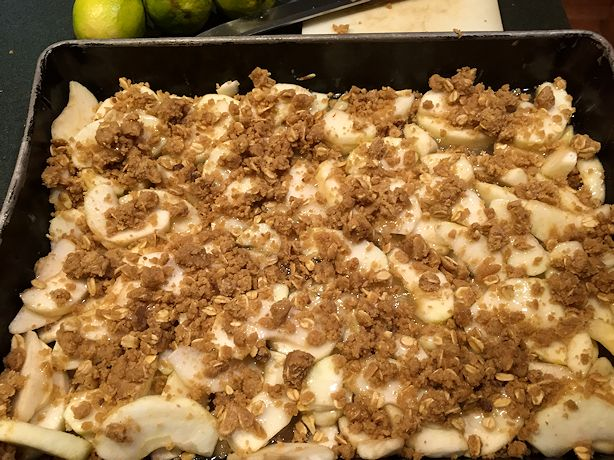 Great Apple Dessert - Ready for the Oven