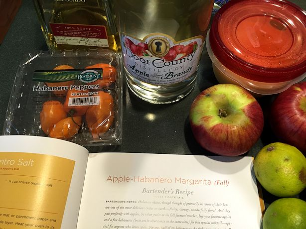 Rick Bayless Apple Habanero Margarita - Ingredients