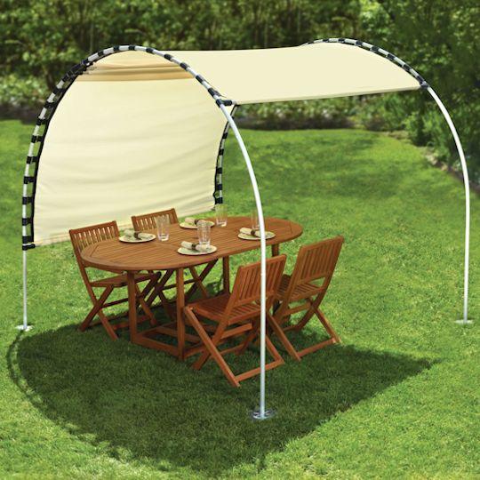 DIY Outdoor Canopy & DIY Outdoor Canopy - My Happy Crazy Life