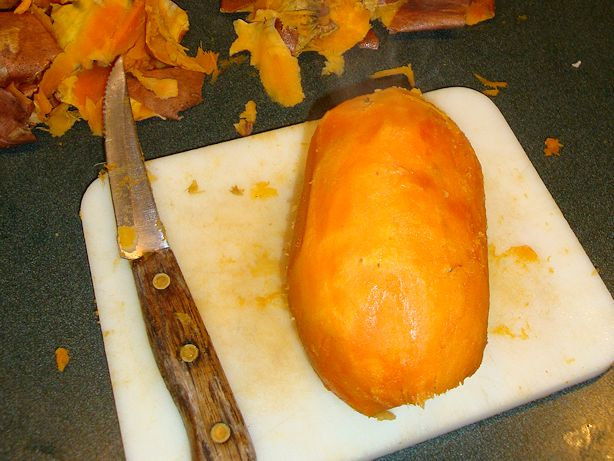 Drunken Sweet Potatoes Recipe - Prepare the Sweet Potatoes