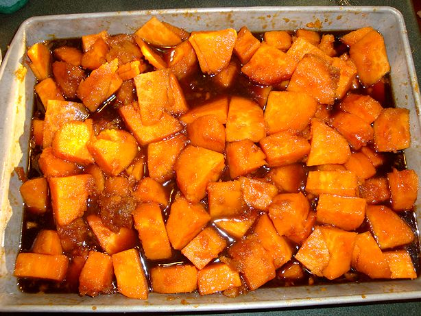 Drunken Sweet Potatoes Recipe - Ready to Eat