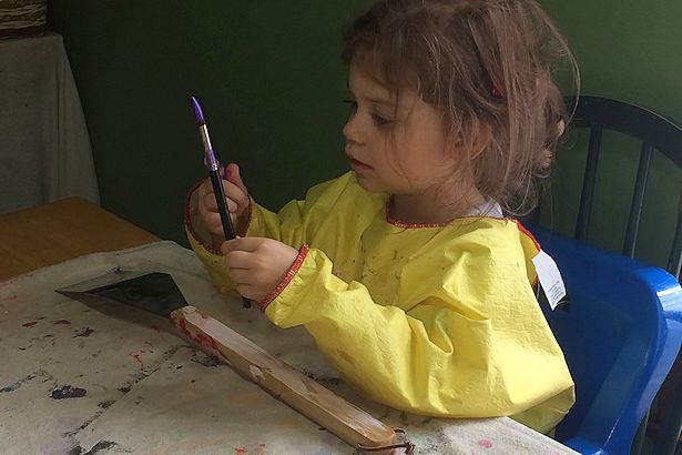 Father's Day Craft - More Painting