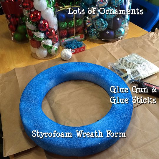 How to Make an Ornament Wreath - Supplies