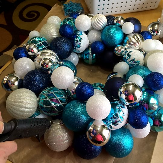 How to Make an Ornament Wreath - Still Filling In